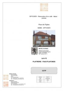 thumbnail of LOT 05 – PLATRERIE FAUX PLAFONDS