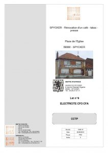 thumbnail of LOT 09 – ELECTRICITE CFO CFA