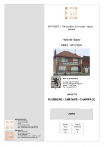 thumbnail of LOT 10 – PLOMBERIE SANITAIRE CHAUFFAGE VENTILATION